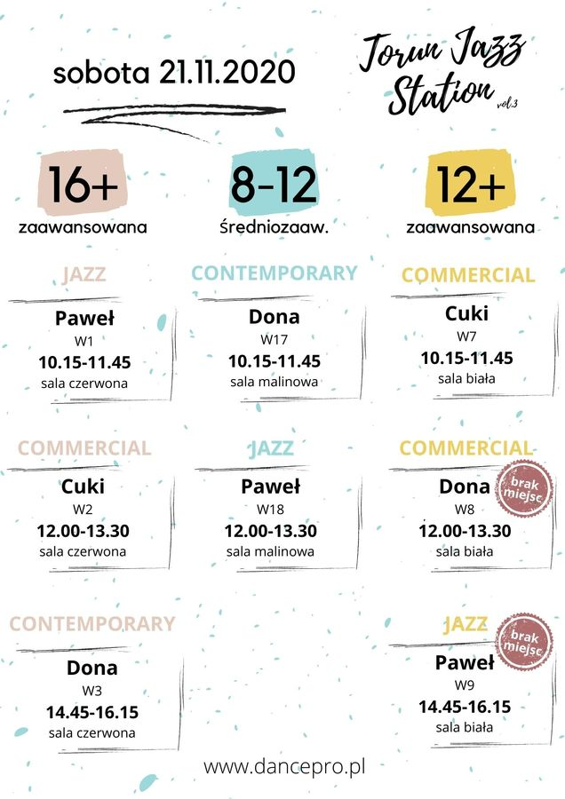 Grafik Warsztatów Toruń Jazz Station 2020 sobota