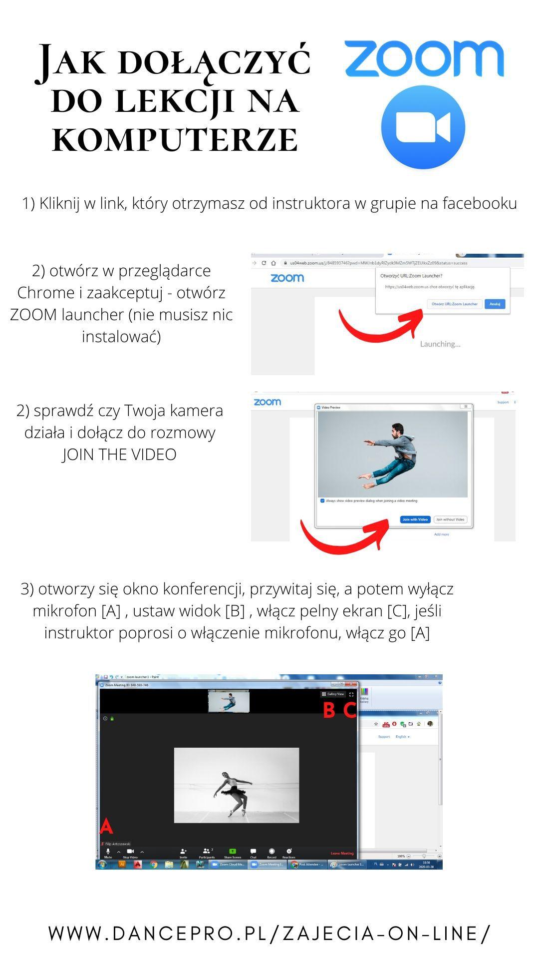 zoom dołącz na komputerze
